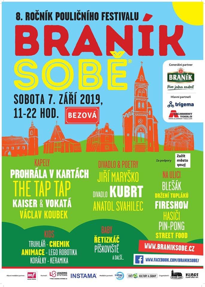 Plakát festivalu Braník Sobě 2019
