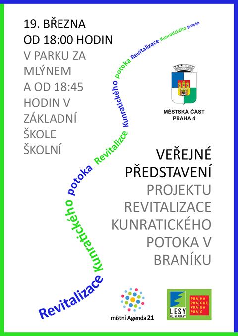 Veřejné představení projektu revitalizace Kunratického potoka v Braníku